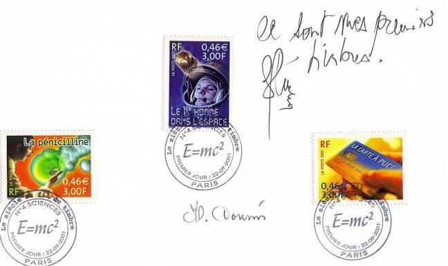 01 bf39 22 09 2001 le siecle au fil des timbres sciences