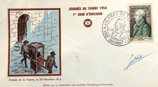 02 969 20 03 1954 lavallette directeur general des postes 1804 1815 1