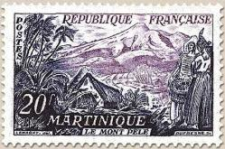 03 1041 01 11 1955 la martinique le mont pele