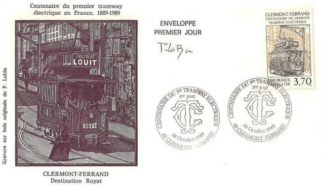 07 2608 28 10 1989 centenaire du 1er tramway electrique