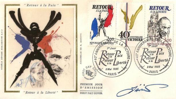 08bis 2368 2369 08 05 1985 40e anniversaire de la victoire 1945