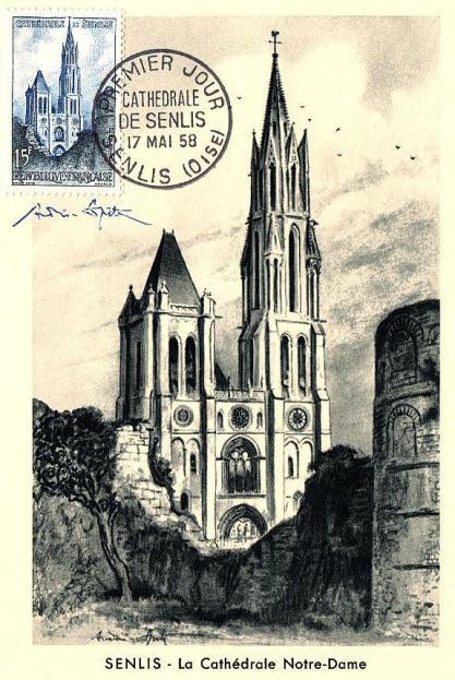 10 1165 17 05 1958 cathedrale de senlis