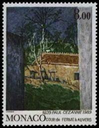 100 1695 07 09 1989 sesquincentenaire de la naissance de peintres celebres paul cesanne cour de ferme a anvers