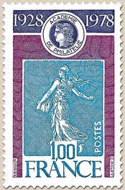 104 07 10 2017 1978 academie de philatelie