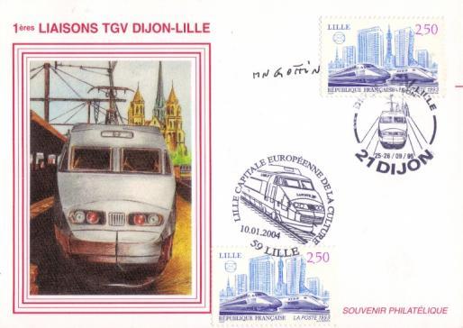 105 2811 1ere liaison tgv dijon lille