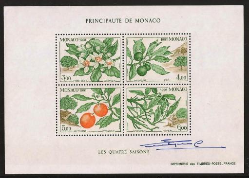 106 bloc n 54 07 11 1991 1790 a1793 les 4 saisons de l oranger