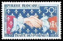 10a 24 10 1959 1223 tricentenaire du traite des pyrenees