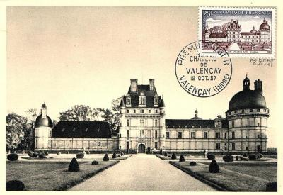 11 1128 19 10 1957 le chateau de valencay 1