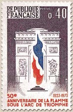119 1777 10 11 1973 flamme arc de triomphe