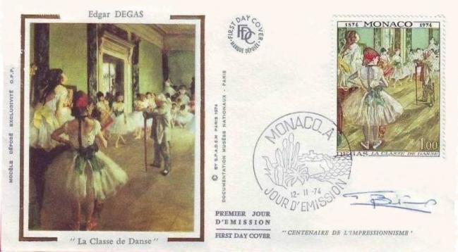 120 968 12 11 1974 centenaire de la fondation du groupe des impressionnistes