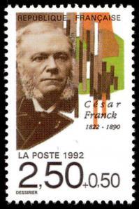 13 2747 11 04 1992 cesar franck 1822 1890 dessine par rene dessirier