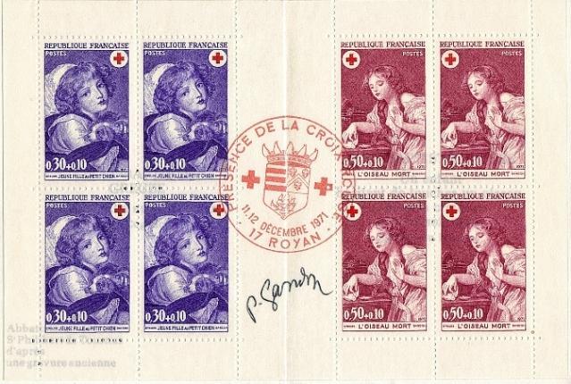 130 1700 1701 11 12 1961 croix rouge 1
