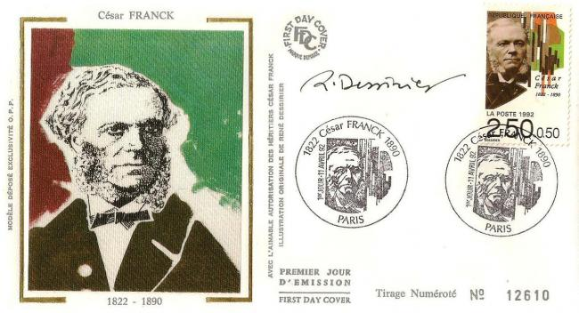 14 2747 11 04 1992 cesar franck 1822 1890 dessine par rene dessirier