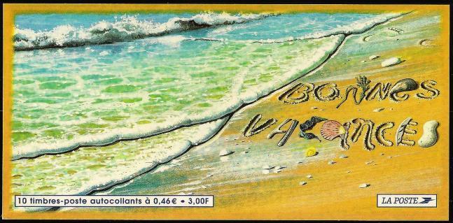 15 10 06 2001 bc3400a vacances timbre autoadhesif