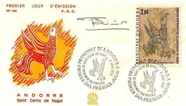 156 278 02 06 1979 fresque romane de l eglise de sant cerni de nagol l aigle