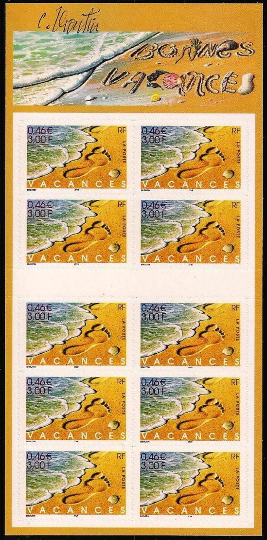 16 10 06 2001 bc3400a vacances timbre autoadhesif
