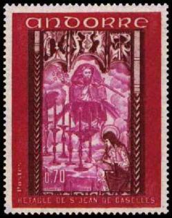 162g 200 18 10 1969 retable de la chapelle de saint jean de caselles carmin brun carmin et lilas rose
