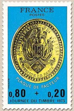 173 1838 08 03 1975 plaque de facteur de paris