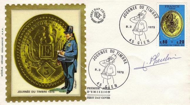 174 1838 08 03 1975 plaque de facteur de paris