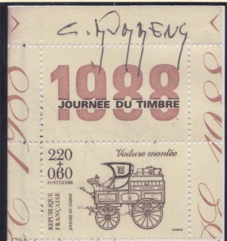 188 bc2526 a 12 03 1988 journee du timbre 2