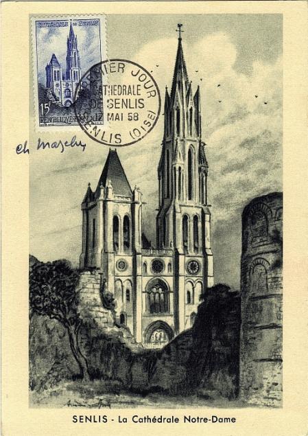 19 1165 17 05 1958 cathedrale de senlis
