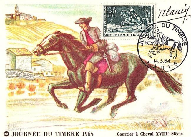 19 1406 courrier a cheval xviiie siecle