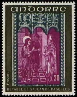 192a 221 16 09 1972 retable de la chapelle de saint jean de caselles olive gris bleu et lilas