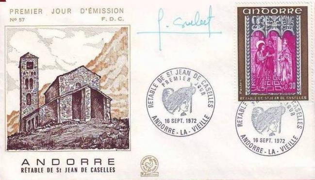 192b 221 16 09 1972 retable de la chapelle de saint jean de caselles olive gris bleu et lilas