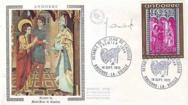 192c 221 16 09 1972 retable de la chapelle de saint jean de caselles olive gris bleu et lilas
