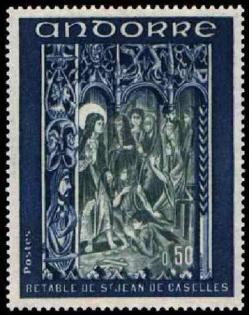 192d 222 16 09 1972 retable de la chapelle de saint jean de caselles bleu et gris bleu
