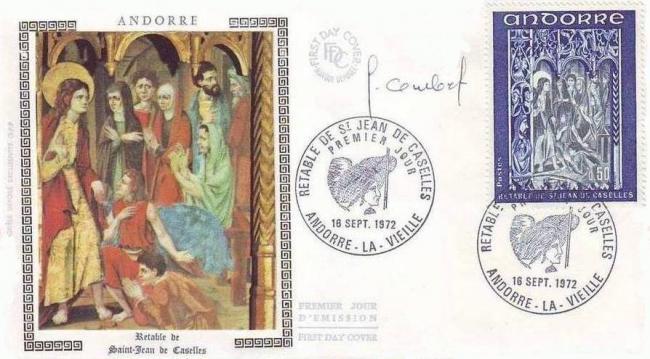 192f 222 16 09 1972 retable de la chapelle de saint jean de caselles bleu et gris bleu