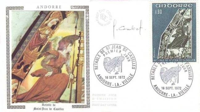 192h 223 16 09 1972 retable de la chapelle de saint jean de caselles bleu vert et vert fonce