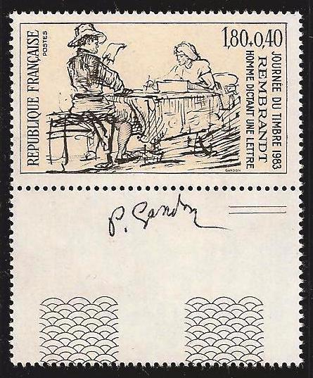 240 2258 26 02 1983 homme dictant une lettre