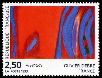 28 2797 17 04 1993 olivier debre rouge rythme bleu