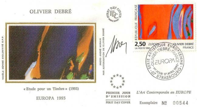 29 2797 17 04 1993 olivier debre rouge rythme bleu