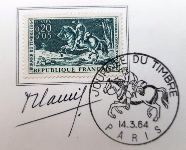 31 1406 14 03 1964 courrier a cheval du xviiieme siecle