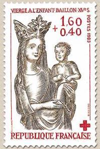 35 2295 26 27 11 1983 vierge a l enfant baillon