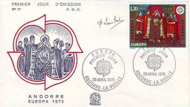 41 244 26 04 1975 europa fresques de l eglise de la cortinadacouronnement de saint marti xvi