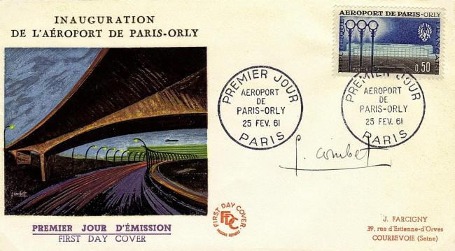 45 1283 25 02 1961 aeroport paris orly 2