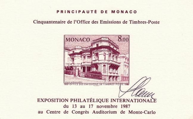 45 bf39 17 11 1987 cinquantenaire de l office des timbres poste