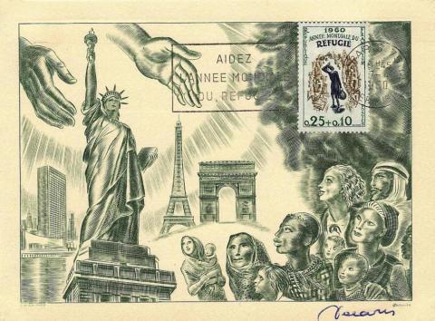 55 1253 07 04 1960 annee mondiale refugie