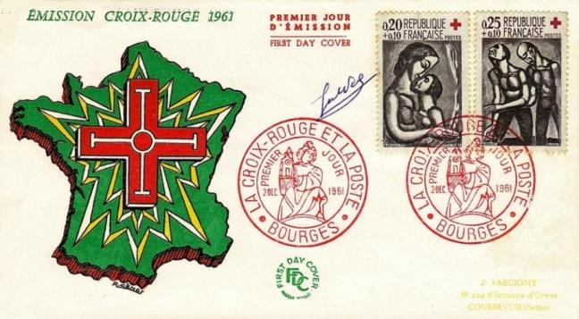 55 1323 1324 02 12 1961 croix rouge