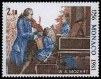 57 1271 04 05 1981 225 anniversaire de la naissance de wolfgang amadeus mozart mozart a 7 ans avec son pere et sa s ur