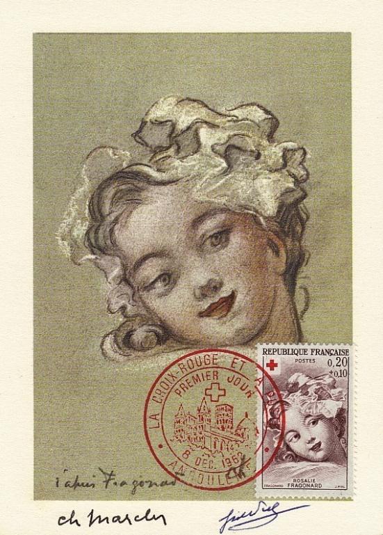 60 1366 08 12 1962 croix rouge rosalie