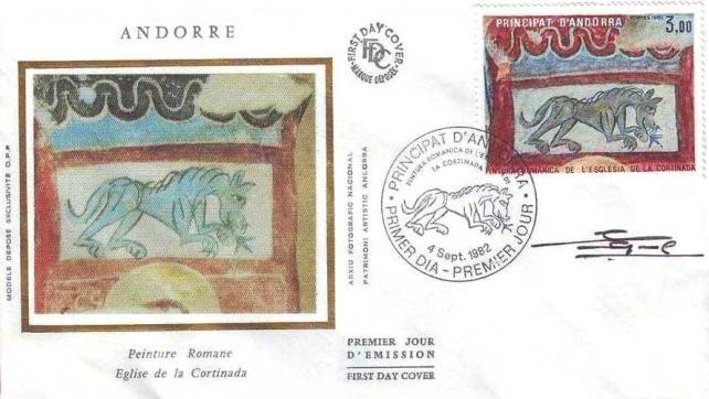 60 305 04 09 1982 peinture romane de l eglise de la cortinada