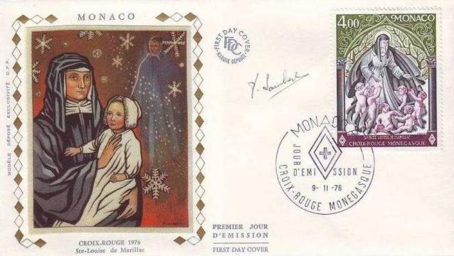 65 1064 09 11 1976 croix rouge monegasque