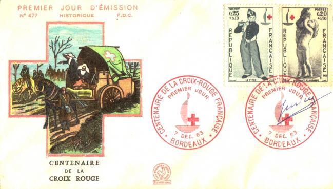 67 1454 1455 07 12 1963 centenaire croix rouge
