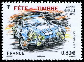 720 5204 10 03 2018 fete du timbre 2018 renault alpine