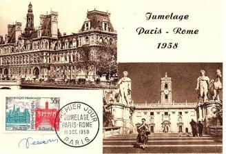 73 1176 11 10 1958 jumelage paris rome