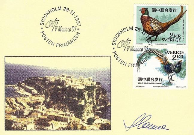 73 2225 2226 28 11 1997 exposition internationale o e t p monaco 97 le 9 mai 1997